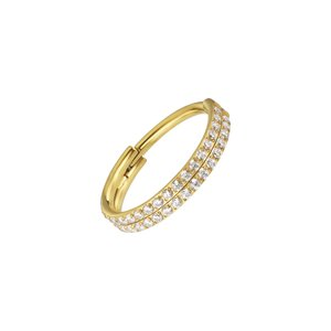 Piercing orecchio Titanio Cristallo Rivestimento PVD (colore oro)