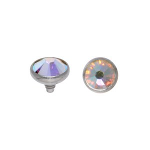Dermal-Anchor tops Titanium Crystal