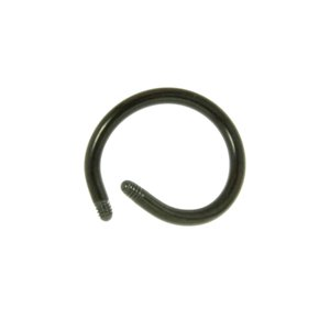 1.2mm Titanium piercing part Titanium Black PVD-coating