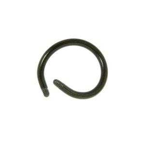 1.2mm Titane élément de piercing Titane Revêtement PVD noir
