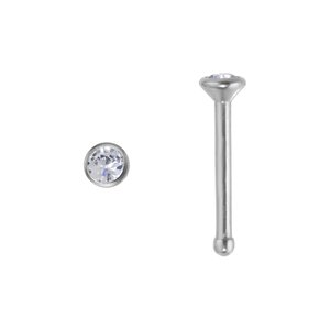 Nose piercing Titanium Swarovski crystal