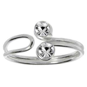Toering Silver 925 Crystal Eternal Loop Eternity