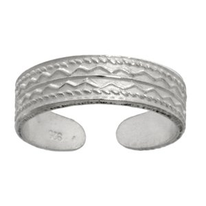teenring Zilver 925 tribal_tekening tribal_patroon streep lijn ribbels golf
