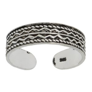 teenring Zilver 925 tribal_tekening tribal_patroon golf streep lijn ribbels