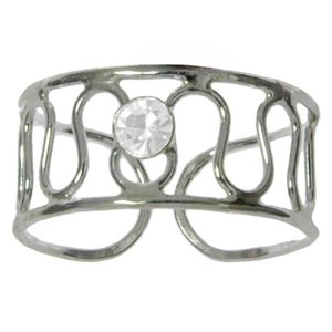 Toering Silver 925 Crystal Wave