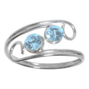 Toering Silver 925 Crystal Spiral Eternal Loop Eternity