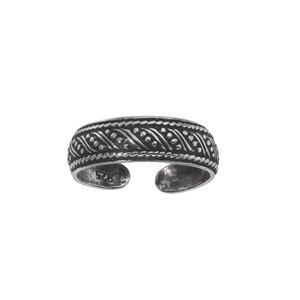 Zehenring Silber 925 Tribal_Zeichnung Tribal_Muster