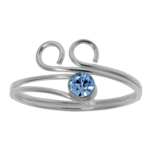 Toering Silver 925 Crystal Wave Eternal Loop Eternity