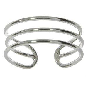 Bague de doigt de pied Argent 925 Spirale Bandes Rayures Zébrure