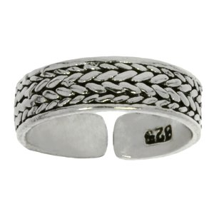 Toering Silver 925 Eternal Loop Eternity Tribal_pattern Stripes Grooves Rills