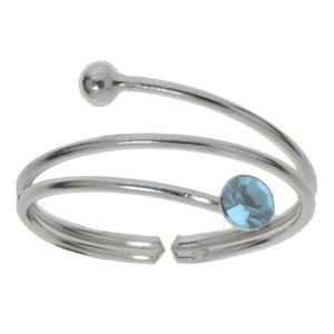 Toering Silver 925 Crystal Spiral