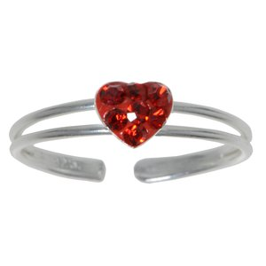 Toering Silver 925 Crystal Heart Love