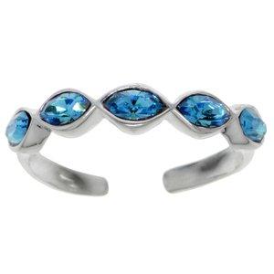 Toering Silver 925 Crystal Wave Eternal Loop Eternity
