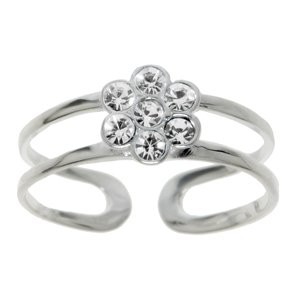 Toering Silver 925 Crystal Flower