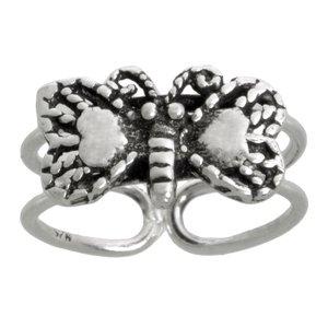 teenring Zilver 925 vlinder