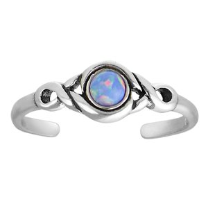 Bague de doigt de pied Argent 925 Opale