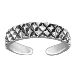 Zehenring Silber 925 Tribal_Zeichnung Tribal_Muster Streifen Rillen Linien