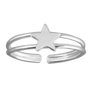 Zehenring Silber 925 Stern