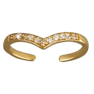 Toering Silver 925 Gold-plated Crystal