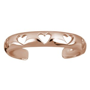 Toering Stainless Steel PVD-coating (gold color) Heart Love