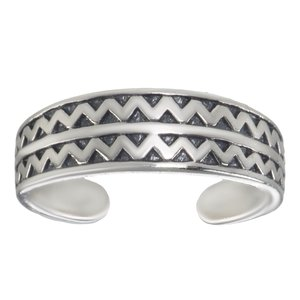 Toering Silver 925 Wave Triangle