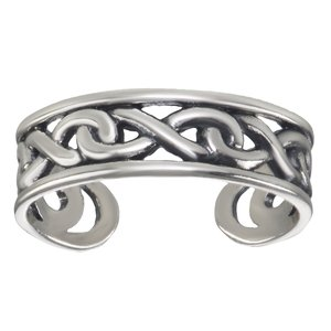 Anillo de pie Plata 925 Eternidad Lazo Eternal Dibujo_Tribal Diseño_Tribal
