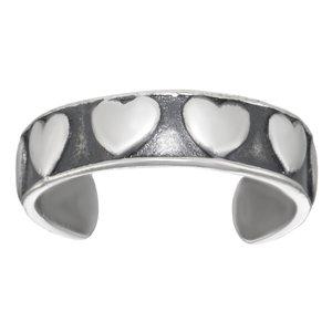 Bague de doigt de pied Argent 925 Coeur C?ur Amour