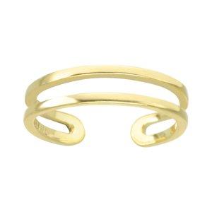 Anello piede Acciaio inox Rivestimento PVD (colore oro) Spirale Striatura Banda Incavo