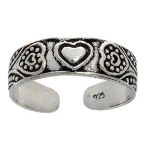 Zehenring Silber 925 Herz Liebe Tribal_Zeichnung Tribal_Muster