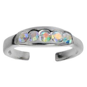 Zehenring Silber 925 Kristall