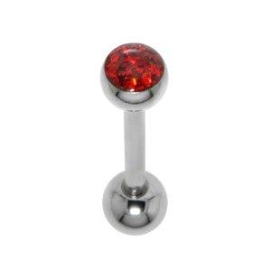 Piercing de lengua Acero quirúrgico Cristal epoxy
