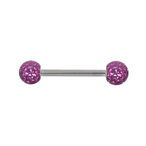 Tongue piercing Surgical Steel 316L zirconia Epoxy