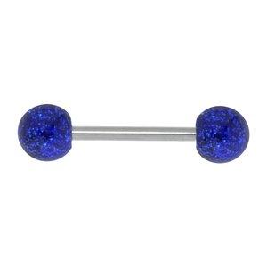 Piercing lingua Metallo chirurgico 316L Vetro acrilico