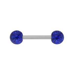 Tongue piercing Surgical Steel 316L Acrylic glass