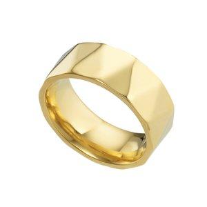 Anillo Titan Titanio Revestimiento PVD (color oro)