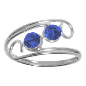 Anillo Plata 925 Cristal Espiral