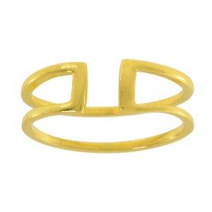 Bague de doigt Argent 925 Revêtement d´or (doré)