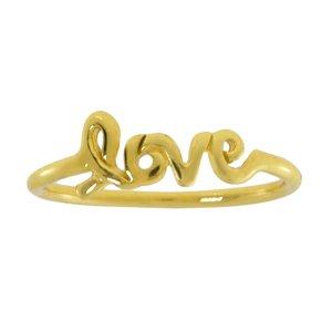 Anello Argento 925 Dorato Love Amore