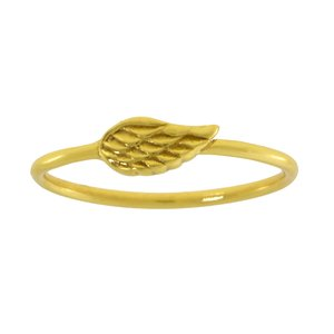 Fingerring Silver 925 Gold-plated Wings