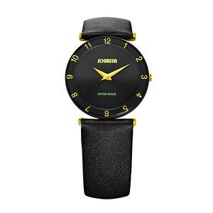 JOWISSA Reloj Acero fino Cristal mineral Cuero Satén