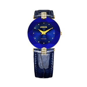 JOWISSA Watch Stainless Steel Mineral glass Crystal Leather Star Fur Fur_pattern Animal_Print