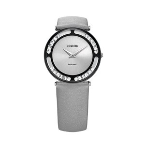 JOWISSA Watch Stainless Steel Mineral glass Crystal Leather Satin