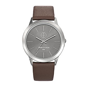 TRENDY CLASSIC  Stainless Steel Mineral glass Leather