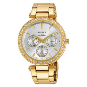 PULSAR Watch Stainless Steel Mineral glass Swarovski crystal