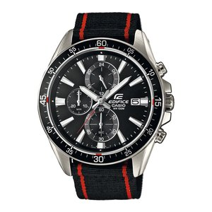 CASIO EDIFICE Watch Stainless Steel Mineral glass Textile