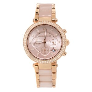 Michael Kors  Stainless Steel Mineral glass Plastic Crystal