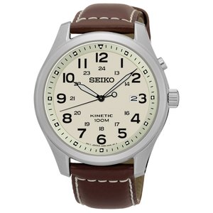 SEIKO  Stainless Steel Mineral glass Leather