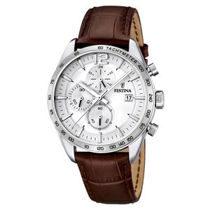 Festina Watch Stainless Steel Mineral glass Leather Fur Fur_pattern Animal_Print