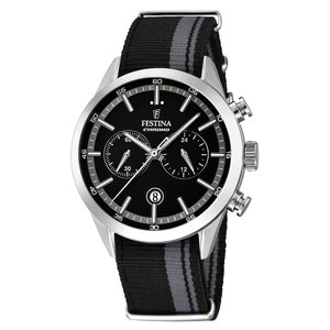 Festina Watch Stainless Steel Mineral glass Textile