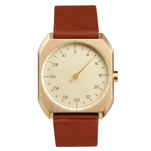 slow Reloj Acero fino Cristal mineral Cuero